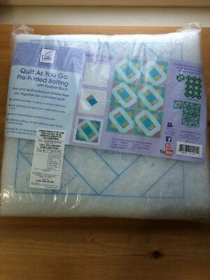 QUILT AS YOU GO PRE-PRINTED BATTING Mosaic Magic From June Tailor Inc. NEW