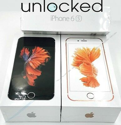 Apple iPhone 6S - 16GB / 32GB / 64GB (UNLOCKED) Rose Gold Silver Space Gray *NEW