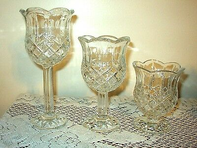 Home Interior Set Of 3 Votives With Stems