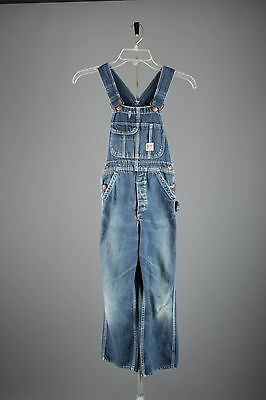 Vtg Boys 1940s 1950s JC Penneys Big Mac Cotton Denim Overalls Indigo Denim #2935