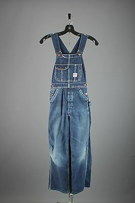 Vtg Boys 1940s 1950s JC Penneys Big Mac Denim Overalls sz 27x25 40s 50s #2937