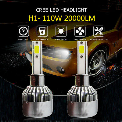 H1 252W 25200LM CREE LED Car Headlight Kit Beam Bulb 6000K Replace Halogen Xenon