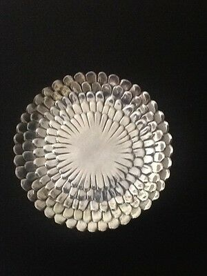 Tiffany & Co Sterling Silver Floral Platter