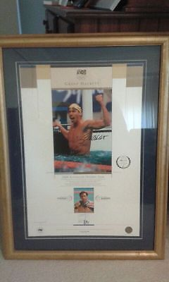 Grant Hackett 2000 Olympic Team Limted Edition Signed Print