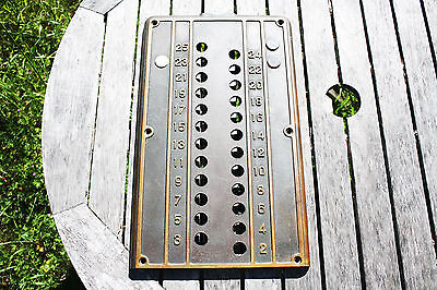 Vintage Large 25 Floor Brass/copper/Bronze Elevator Panel/Plate San Francisco