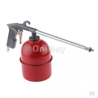2x Air Engine Gun Cleaning Kit Tool with 6 Siphon House Cleaner Gray for Car