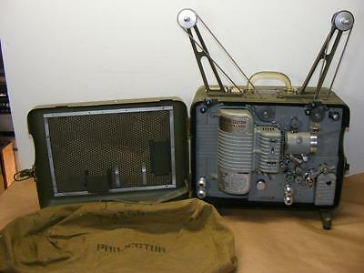 Vtg Army Military 16 mm BELL HOWELL Projector PH-652A / PFP-1 With Covers