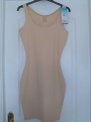 NEW SPANX Sleek Slimmers Tank / Shaping slip Nude Choice of Size