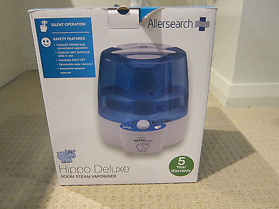 Allersearch Hippo Deluxe Room Steam Vaporiser - in original box