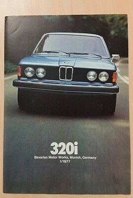 1977 BMW 320i sales brochure from the USA