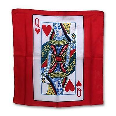 "Silk 18"" Queen of Heart Card from Magic by Gosh - Trick - Magic Tricks"