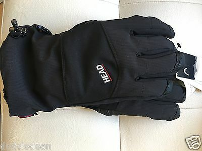 Head Snow Size L Mens Ski Gloves Perfect Snowboarding Skiing Black