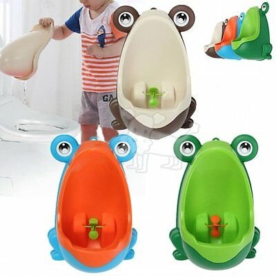 Kids Baby Toddler Boy Frog Potty Urinal Pee Toilet Travel Home Training ZD