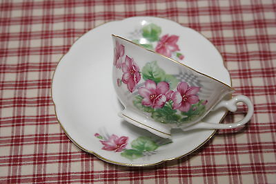 Diamond China Occupied Japan Cup and Saucer Set MINT!