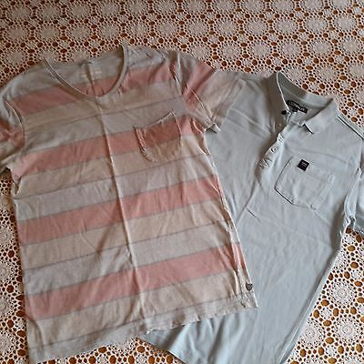 2 x Mens Boys Cotton T Shirts Size Small CONNOR and INDUSTRIE