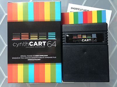 New - v2- Commodore 64 cynthCART 64 v2 Analogue Synthesizer with Midi Support