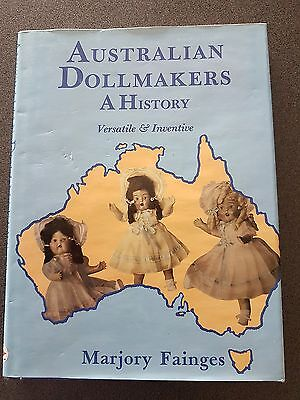 Australian Dollmakers A History Book Hb Dw 1St Edition Doll Book Fainges