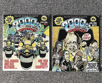 Job Lot The Best Of 2000AD Featuring Judge Dredd Monthly No 7 11 & Prog 750 '86