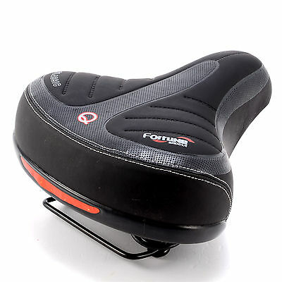 Wide Big Bum Bike Bicycle Gel Cruiser Extra Comfort Soft Sporty Pad Saddle Seat