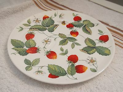 Roy Kirkham Tennis Plate In Alpine Strawberry Pattern