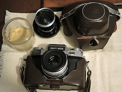 Zeiss Ikon Contaflex Super New 10.1262-Tessar 50Mm F2,8+Pro Tessar 35Mm+Custodia