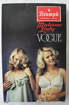 VINTAGE 1970's TRIUMPH Lady Vogue Maternity Nursing Bra 10B in Original Box