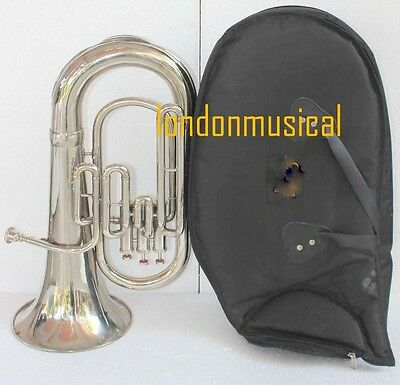 "Euphonium Best Qlty Nickel Bb FLAT 3 V Tuba ""M/ P & Bag Fast Shipping Bb gift"
