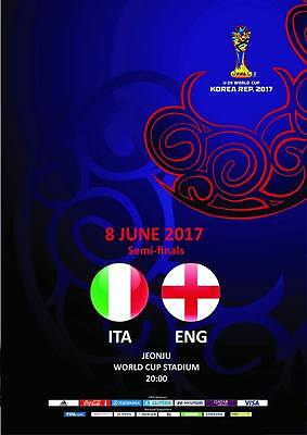 Programme Italy v England 8.06.2017 U-20 World Cup, Semi finals. Unofficial