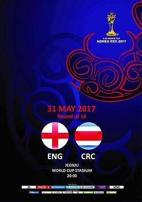 Programme England v Costa Rica 31.05.2017 U-20 World Cup, Unofficial