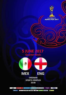 Programme Mexico v England 5.06.2017 U-20 World Cup, Unofficial