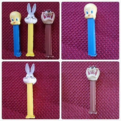 Pez Dispenser Tweety Bird Bugs Bunny Taz Looney Tunes With Feet Warner Brothers