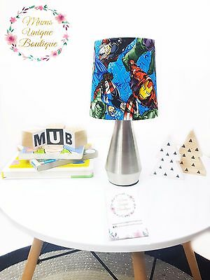 Blue Marvel Avengers Hulk Baby Children Nursery Table Lamp Night Light Touch