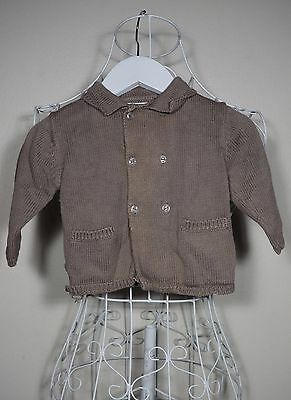 """""""Obaibi"""" Baby Boy Size 6M Brown Knit Cardigan - Great Condition! Bargain Price!"""