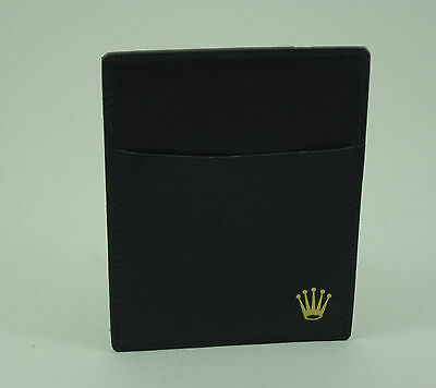 Genuine Rolex vintage black leather card holder late 1980s/early 1990s