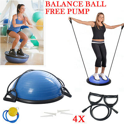 Bosu Ball Balance Trainer Home Gym Fitness Pro Workout Yoga Cardio Exercise
