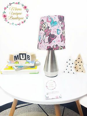 Minnie Mouse Heart Girl Baby Children Nursery Table Lamp Night Light Touch Lamp