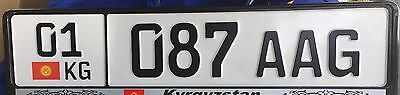 license plate Kyrgyzstan