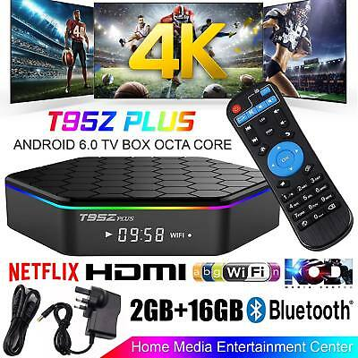 T95Z Plus S912 2GB+16GB TV Box Octa Core Android 6.0 2.4/5Ghz WIFI UK