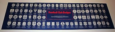 Esso Football Club Badges Empty Presentation Boards Plus 5 Unopened Packets