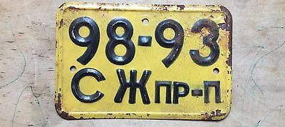 license plate USSR