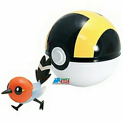 """Pokemon 2"""" Plastic Toy Action Figure Clip n Carry Fletchling Ultra Ball"""