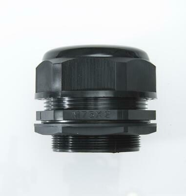 M75 Black Nylon Cable Gland IP68 56-66mm cable dia with lock nut and washer