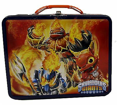 Skylanders Square Carry All Tin Stationery Lunch Box Lunchbox - Blue