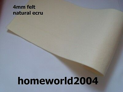 FELT FABRIC 4mm thick 100cm wide sold by metre ECRU