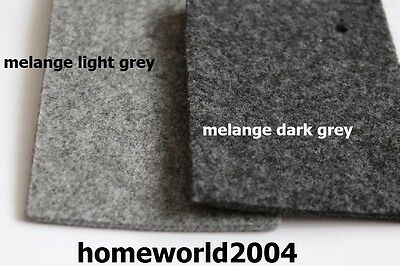 FELT FABRIC 4mm thick 100cm wide sold by metre MELANGE LIGHT GREY