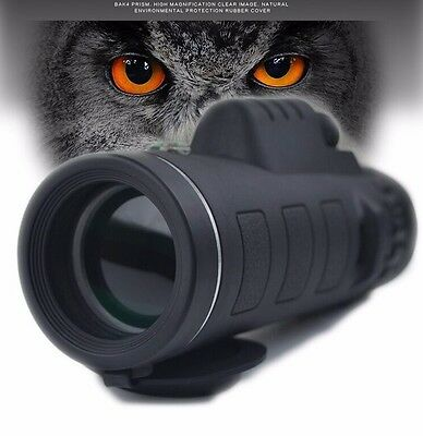Day Vision 40x60 HD Optical Outdoor Hunting Camping Fishing Monocular telescope