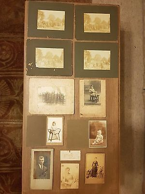 ANTIQUE PHOTOS - LOT OF 11 PHOTOGRAPHS - Tracking number sent to buyer.