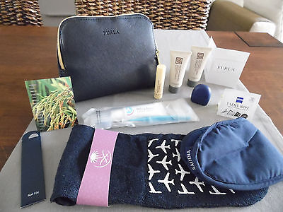 SAUDIA Business Class FURLA Ladies' Amenity Kit Clutch Bag Trousse Kulturbeutel