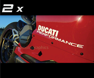 DUCATI PERFORMANCE side fairing vinyl stickers decals 899 1199 1299 Panigale S R