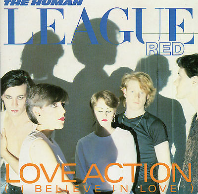 "The Human League Love Action 7"" Vinyl Single 1981 Picture Sleeve Virgin–VS 435"